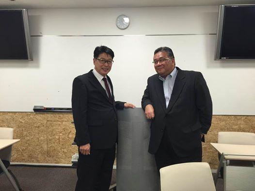 イオンエンターテインメント牧社長と学部長